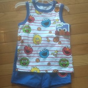 Sesame 2 piece tank and short set